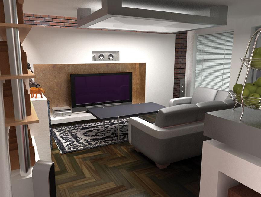 3D viz of a modern flat no. 51
